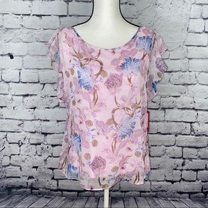 Vince Camuto NWT Purple Floral Top